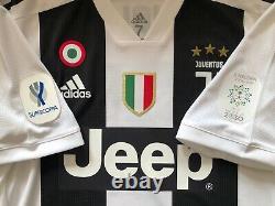 Juventus 2018-2019 Ronaldo Supercoppa Italia match issue player jersey size 7