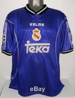 Kelme Real Madrid Away Champions 1997 Raul L Original Jersey Shirt