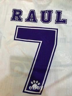 Kelme Teka Real Madrid Cf 1996 1997 Match Worn Shirt Jersey Cosmos Spain Raul