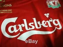 LIVERPOOL home 2006/08 shirt ALONSO #14 Spain-Real Madrid-Bayern-Jersey (M)