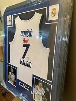Luka Doncic Authentic Aurograph Framed Jersey COA PSA Real Madrid NBA
