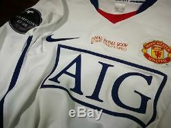 MANCHESTER UNITED away 2008-09 shirt RONALDO #7-Portugal-Real Madrid-Jersey(M)