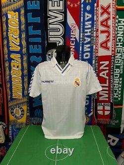 Maglia Calcio Real Madrid Home 1988/90 Shirt Trikot Camiseta Maillot Jersey