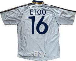 Maglia Real madrid Eto'o 1998-99 vintage Adidas football shirt Teka home jersey
