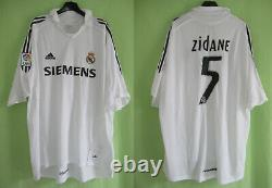 Maillot Vintage Real Madrid Zidane 2005 2006 Vintage Adidas jersey Siemens XXL