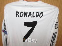 Maillot jersey shirt camiseta trikot RONALDO REAL MADRID 2013-2014 UEFA C1 LS XL