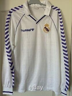 Maillot real madrid Hummel L rare camiseta jersey shirt trikot maglia collector