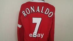 Manchester Shirt Jersey Ronaldo Real Madrid Sporting Lisbon Portugal England M