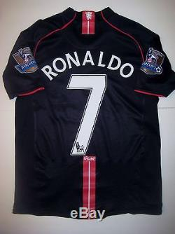 Manchester United Cristiano Ronaldo Nike Black Jersey 2007 Real Madrid/Portugal