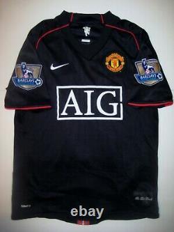 Manchester United Cristiano Ronaldo Nike Kit Jersey 2007 Black Away