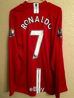 Manchester United Ronaldo Real Madrid Rare PlayerIssue Shirt Match Unworn Jersey