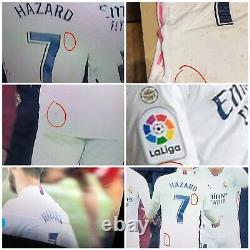 Match Worn Eden Hazard Real Madrid Home Laliga Vs Osasuna 0-0 With Photo Match