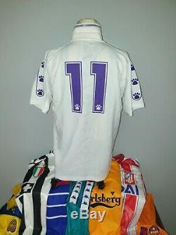 Match Worn Real Madrid 1994 96 1996 Jersey Fcb Barcelona Camiseta #11 Amavisca