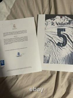 Match Worn Real Madrid Varane Vs Inter Milan With COA From Club Foundation