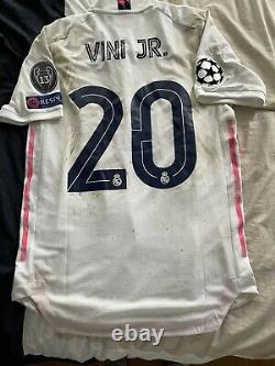 Match Worn Real Madrid Vinicius Jr Vs Atlanta Champions League 2021