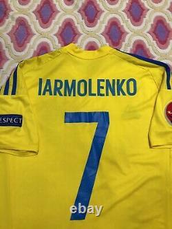 Match Worn T-shirt Ukraine France 2016 Evro Jersey Ucraina Shirt Original Adidas