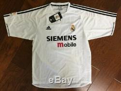 Mens Adidas David Beckham Real Madrid White Jersey Shirt 23 Siemens Mobile sz XL