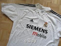 Michael Owen #11 REAL MADRID home shirt jersey ADIDAS 2004-2005/ adult SIZE XL