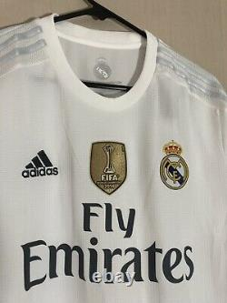 Modric #19 Real Madrid 2015/16 WCC Large Home Football Shirt Jersey Adidas BNWT