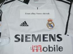 New 2003/2004 Adidas Authentic Real Madrid Zinedine Zidane Jersey Shirt Home