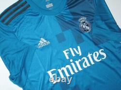 New 2017-2018 Real Madrid Cristiano Ronaldo Adidas Third Kit Teal Shirt Jersey