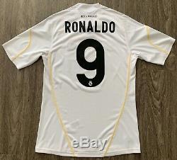 New Adidas 2009/10 Real Madrid Cristiano Ronaldo Home Jersey S CR9 juventus kit