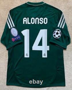 New Adidas 2012/13 Real Madrid Xabi Alonso Third Jersey M shirt spain green kit