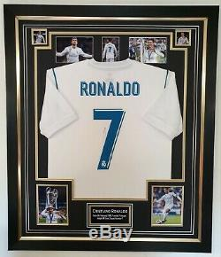 New Cristiano Ronaldo Signed Shirt Real Madrid Autographed Jersey Display