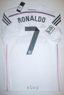 New Real Madrid Cristiano Ronaldo Adidas Home White Jersey Portugal 2013-2014