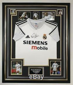 New Ronaldo Luís Nazário de Lima Signed Shirt Autographed Real Madrid Jersey