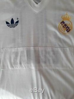 Original UEFA Matchworn Real Madrid R. Gallego 1984-85 jersey maillot trikot L
