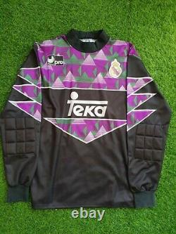 Original real madrid goalkeeper 1992 1993 shirt buyo jersey camiseta magila