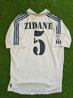 Original real madrid zinedine zidane 2000 2001 shirt jersey camiseta magila