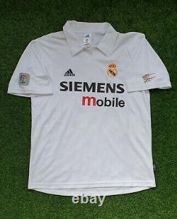 Original real madrid zinedine zidane 2202 2003 shirt jersey camiseta magila