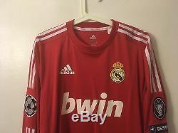 Ozil2011-12 Real Madrid Ucl Match Un Worn Shirt Vs Zagreb Dinamo Arsenal