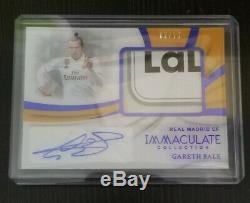 Panini immaculate la Liga jersey Gareth bale real Madrid auto 02/10