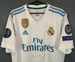 Player Issue Fc Real Madrid 2017/2018 Kroos Soccer Football Shirt Jersey Size L
