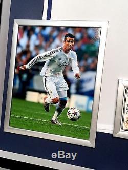 Premium Framed Cristiano Ronaldo Autographed Real Madrid Soccer Jersey Shirt PSA