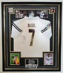 RARE Raul of Real Madrid Signed Shirt Autographed Jersey Aftal Dealer Cert