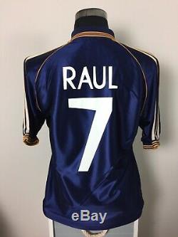 RAUL #7 Real Madrid Third Football Shirt Jersey 1998/99 (M)