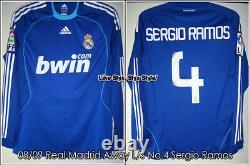REAL MADRID 08/09 Away Match Worn Shirt Sergio Ramos La Liga
