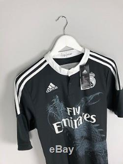REAL MADRID 14/15 BNWT Third Football Shirt (M) Soccer Jersey Adidas