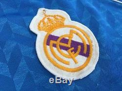 REAL MADRID 1986/88 Hummel Away Football Shirt L Mens Vintage Soccer Jersey