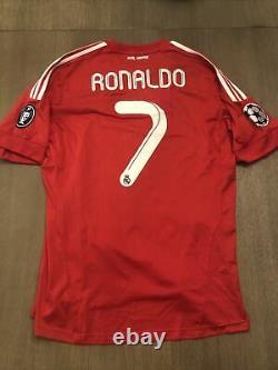 REAL MADRID 2012/2011 THIRD SHIRT RONALDO #7 CHAMPIONS LEAGUE Fooyball JERSEY L