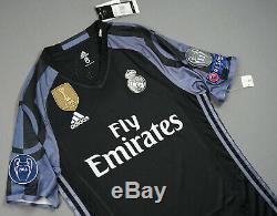 REAL MADRID 2016/17 3rd Away Jersey Football Shirt Original Brand New L BNWT