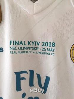 REAL MADRID 2018 FINAL Champions league jersey maillot match no worn Adizero