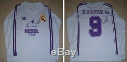 REAL MADRID 90s Retro Jersey signed autographed HUGO SANCHEZ Proof MEXICO Legend