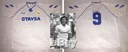 REAL MADRID 90s Retro Jersey signed autographed HUGO SANCHEZ Proof Pumas Legend
