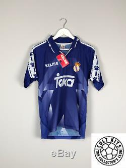 REAL MADRID 96/97 BNWT Away Football Shirt (S) Soccer Jersey Kelme