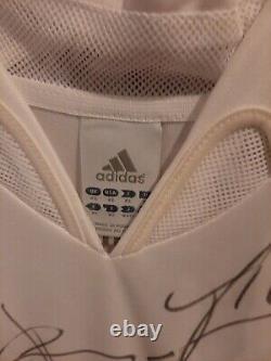 REAL MADRID DREAM TEAM SIGNED JERSEY Signature from ZIDAN+RONALDO+KAKA+RAMOS+BEN